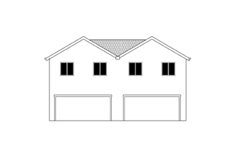 Craftsman Exterior - Rear Elevation Plan #943-38 - Houseplans.com