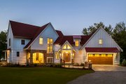 Country Style House Plan - 3 Beds 4 Baths 3347 Sq/Ft Plan #928-290 Exterior - Front Elevation