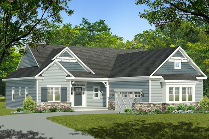 Ranch Exterior - Front Elevation Plan #1010-200