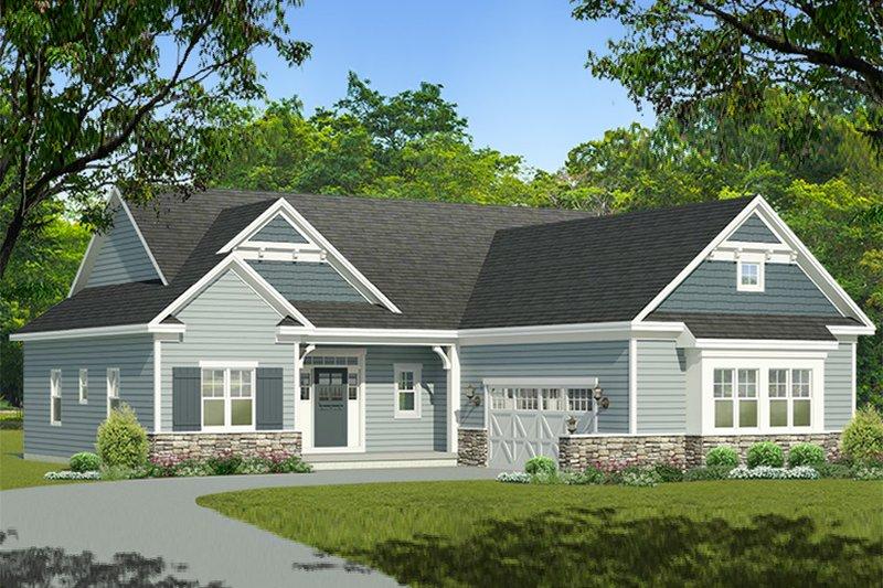 House Plan Design - Ranch Exterior - Front Elevation Plan #1010-200