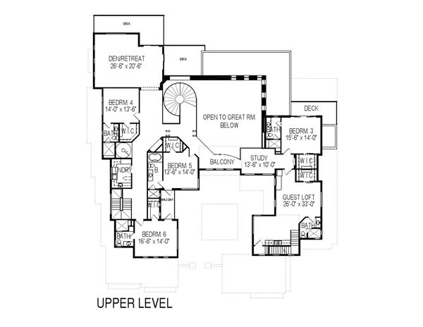 Modern Floor Plan - Upper Floor Plan Plan #920-71