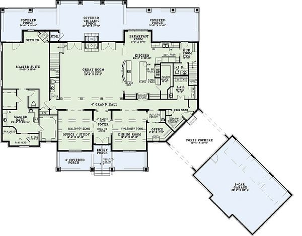 European Floor Plan - Main Floor Plan Plan #17-2538