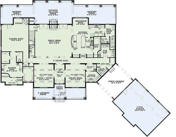 Home Plan - European Floor Plan - Main Floor Plan #17-2538