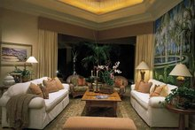 Mediterranean Interior - Family Room Plan #930-194