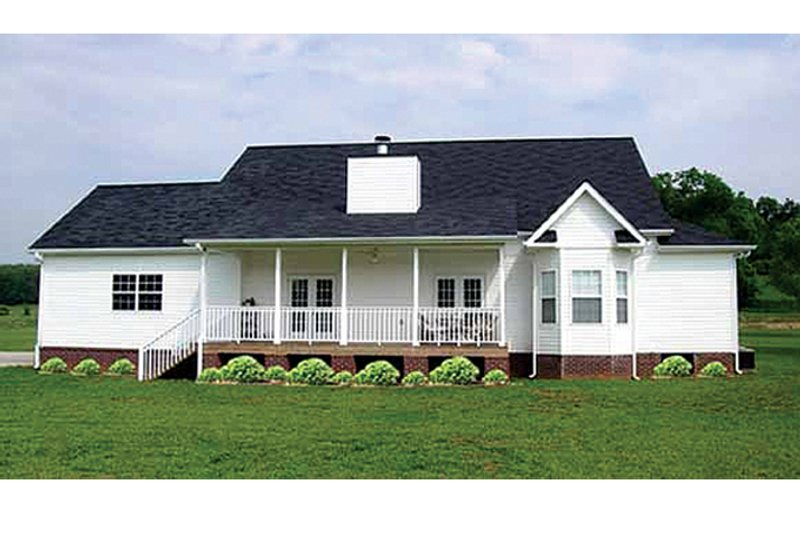 Colonial Exterior - Rear Elevation Plan #314-282 - Houseplans.com