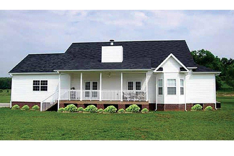 Colonial Exterior - Rear Elevation Plan #314-282 - Houseplans.com