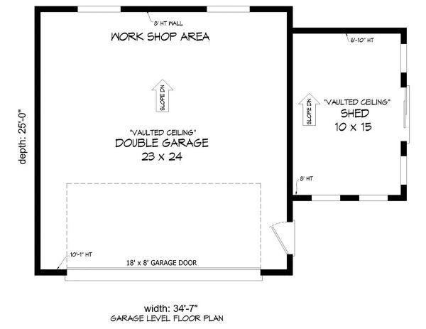 Architectural House Design - Modern Floor Plan - Main Floor Plan #932-381