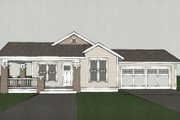Craftsman Style House Plan - 3 Beds 2 Baths 1450 Sq/Ft Plan #461-1 Exterior - Other Elevation