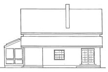Architectural House Design - Traditional Exterior - Rear Elevation Plan #60-894