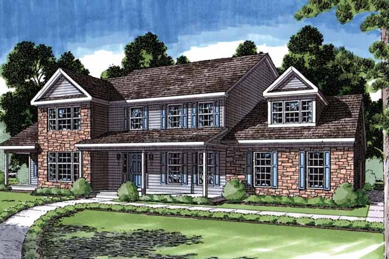 Country Exterior - Front Elevation Plan #1029-9 - Houseplans.com