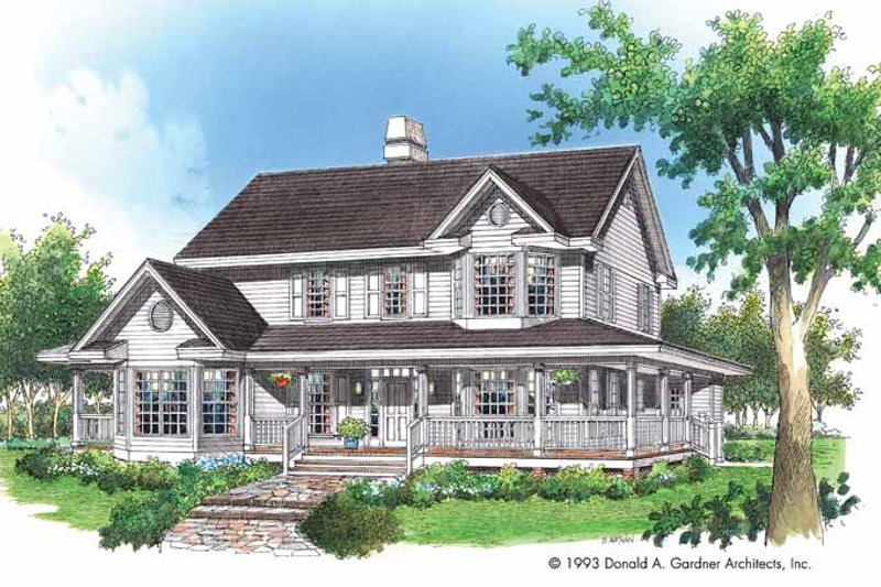 Architectural House Design - Victorian Exterior - Front Elevation Plan #929-172