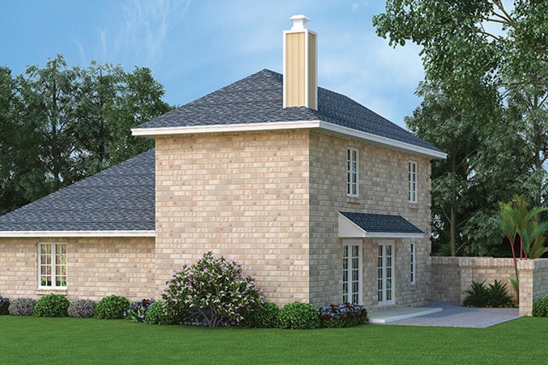 Traditional Exterior - Rear Elevation Plan #45-565 - Houseplans.com
