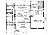Country Style House Plan - 4 Beds 3.5 Baths 2533 Sq/Ft Plan #137-296 Floor Plan - Main Floor Plan