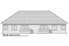 Dream House Plan - Traditional Exterior - Rear Elevation Plan #70-942