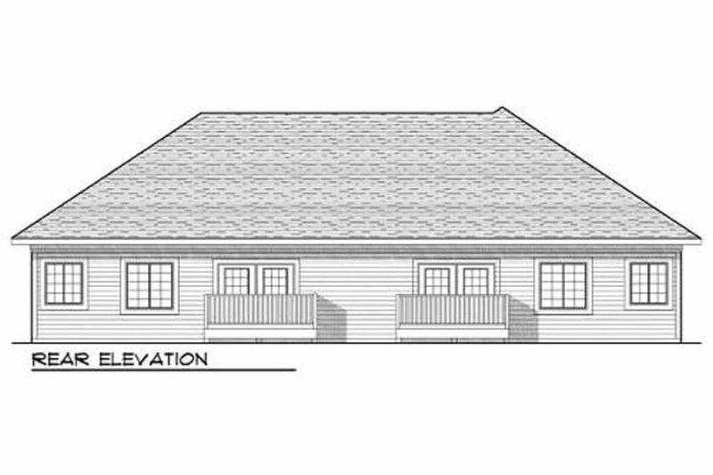 Traditional Exterior - Rear Elevation Plan #70-942 - Houseplans.com