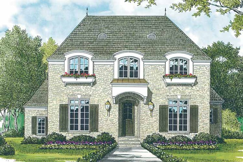 Country Exterior - Front Elevation Plan #453-389
