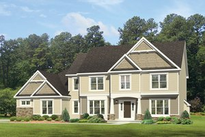 Colonial Exterior - Front Elevation Plan #1010-165