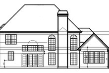 Architectural House Design - Traditional Exterior - Rear Elevation Plan #54-323