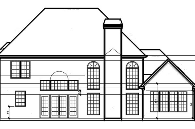 Traditional Exterior - Rear Elevation Plan #54-323 - Houseplans.com