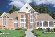Modern Style House Plan - 3 Beds 3 Baths 2764 Sq/Ft Plan #36-222 Exterior - Front Elevation
