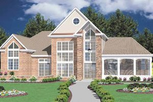 Modern Exterior - Front Elevation Plan #36-222