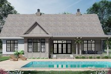 Architectural House Design - Farmhouse Exterior - Rear Elevation Plan #51-1164