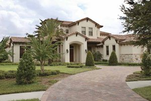 Home Plan - Mediterranean Exterior - Front Elevation Plan #1019-7