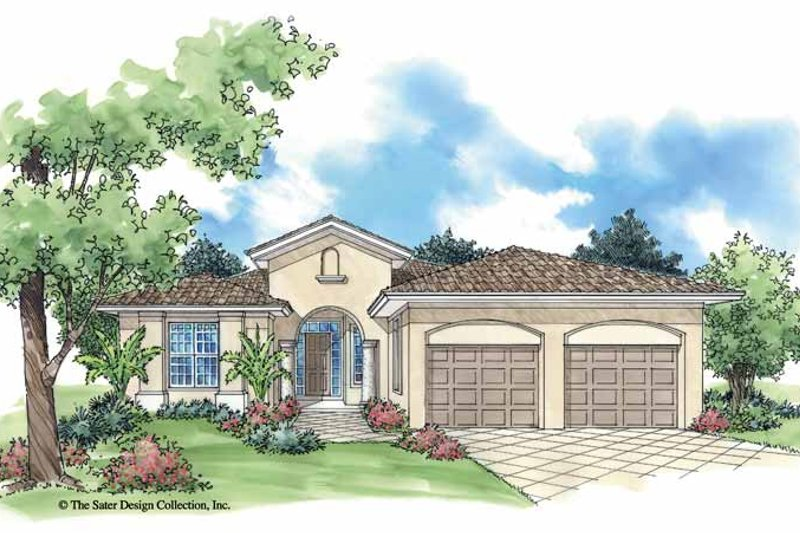 Mediterranean Exterior - Front Elevation Plan #930-388