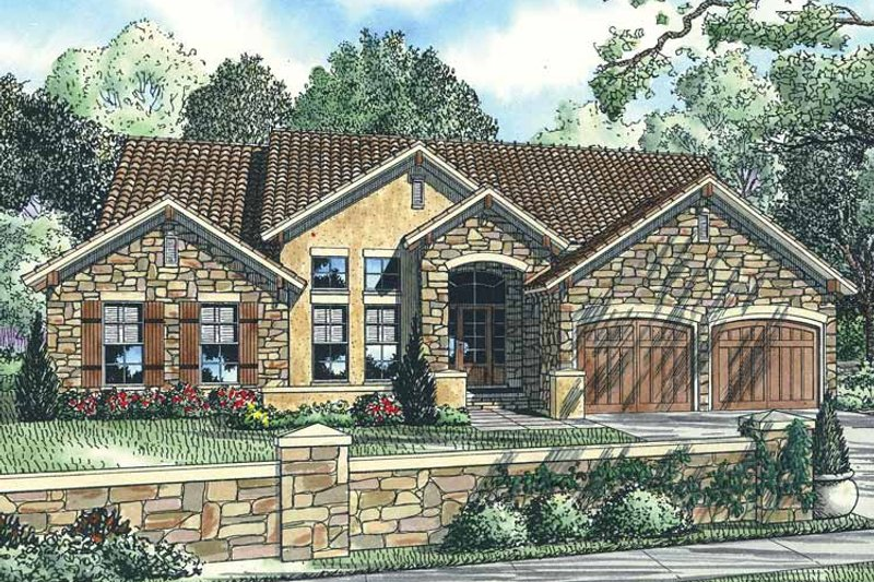 European Exterior - Front Elevation Plan #17-2922 - Houseplans.com