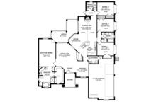 Mediterranean Floor Plan - Main Floor Plan Plan #1058-45