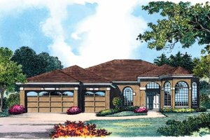 Dream House Plan - European Exterior - Front Elevation Plan #1015-1