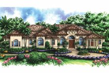Mediterranean Exterior - Front Elevation Plan #1017-31