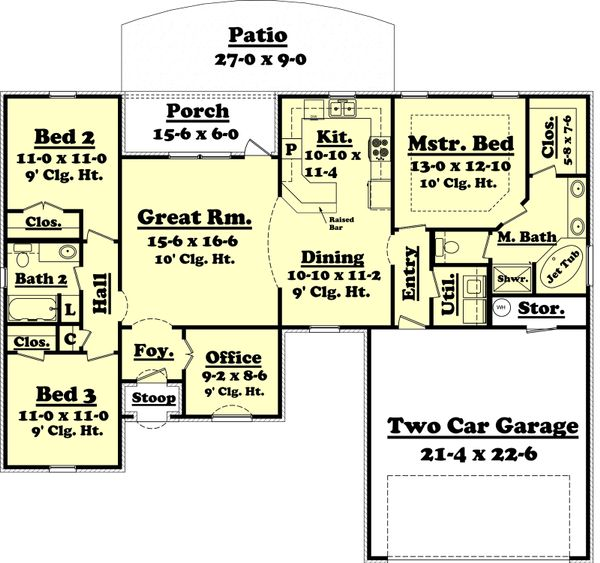 European Floor Plan - Main Floor Plan Plan #430-53