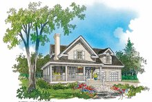 Country Exterior - Front Elevation Plan #929-333