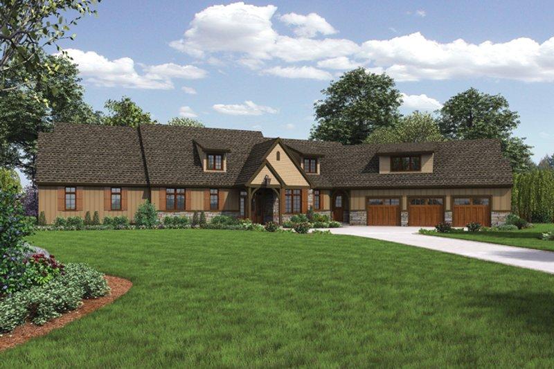 Architectural House Design - Craftsman Exterior - Front Elevation Plan #48-909
