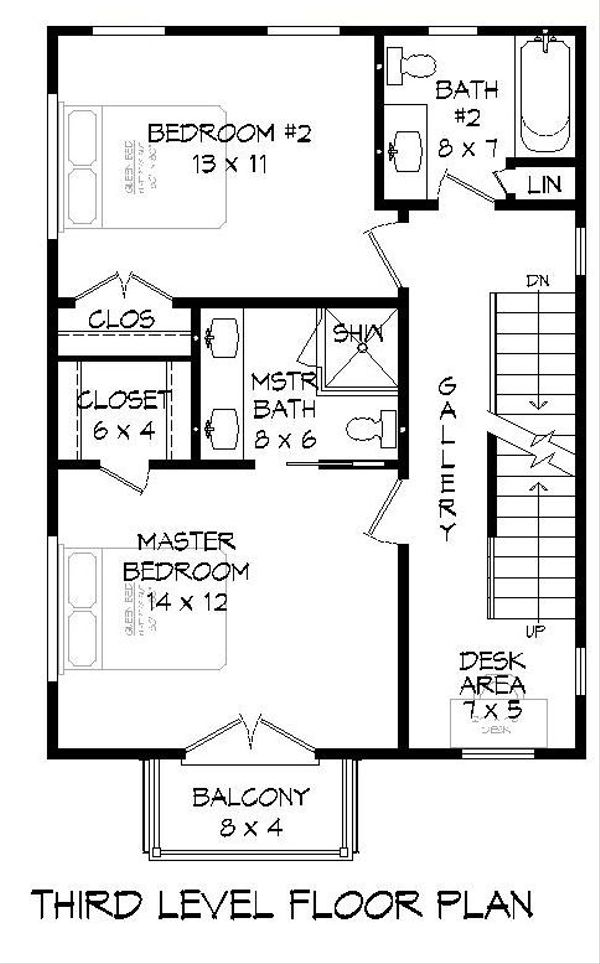 Dream House Plan - Contemporary Floor Plan - Upper Floor Plan #932-127