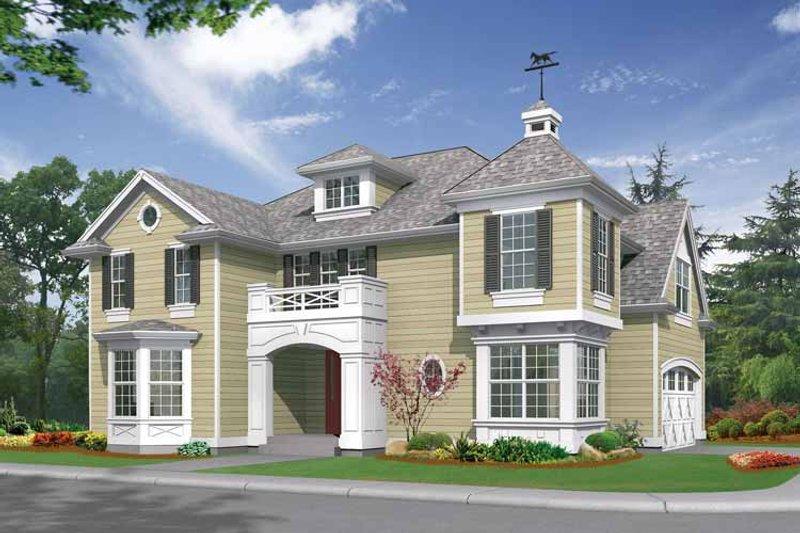 Architectural House Design - Craftsman Exterior - Front Elevation Plan #132-314