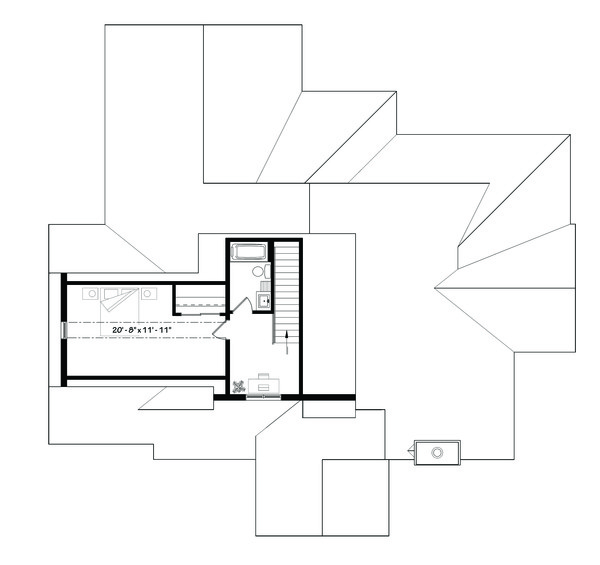 Traditional Floor Plan - Upper Floor Plan Plan #23-2303