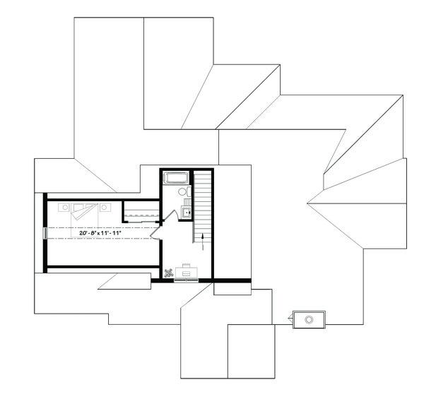 Traditional Floor Plan - Upper Floor Plan Plan #23-2303