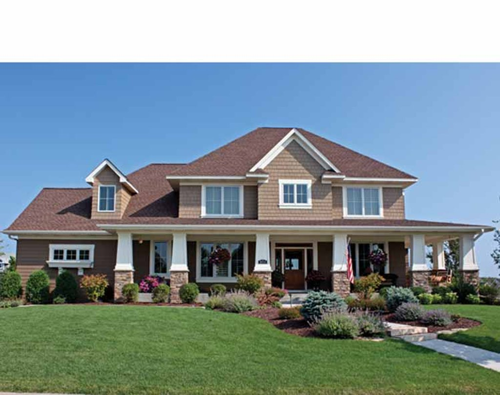 Country style house plan 4 beds 3 5 baths 3635 sq ft for 4 bedroom country house plans