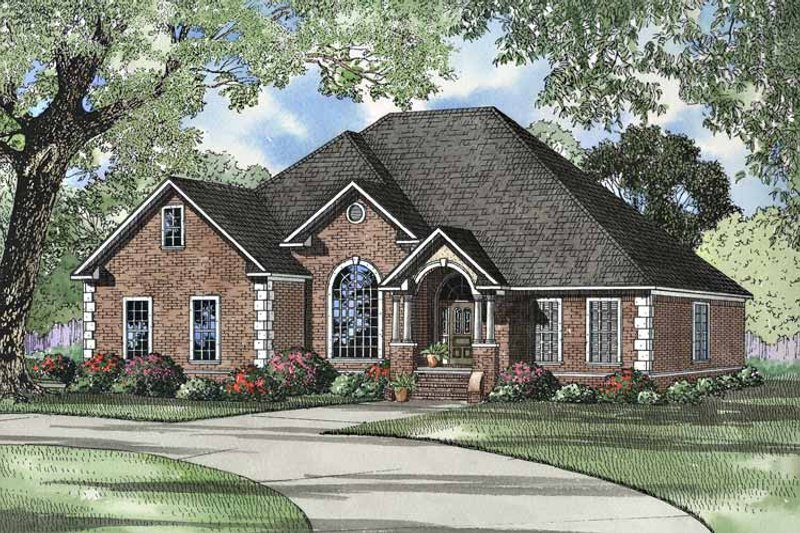 Dream House Plan - Traditional Exterior - Front Elevation Plan #17-3042