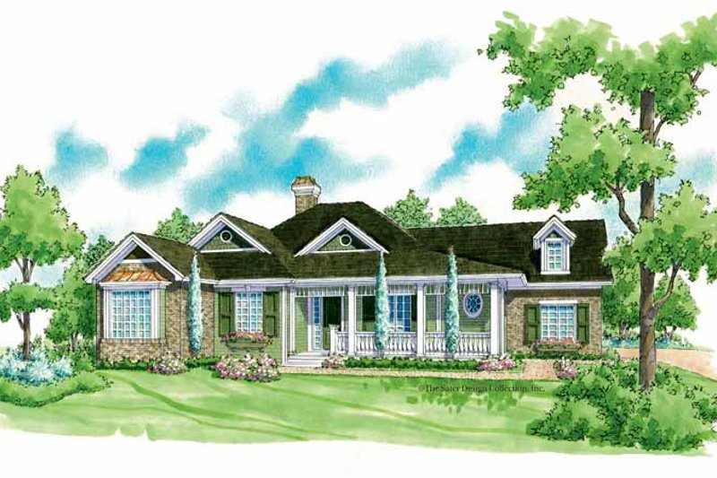 Country Exterior - Front Elevation Plan #930-255