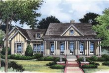 Country Exterior - Front Elevation Plan #417-642