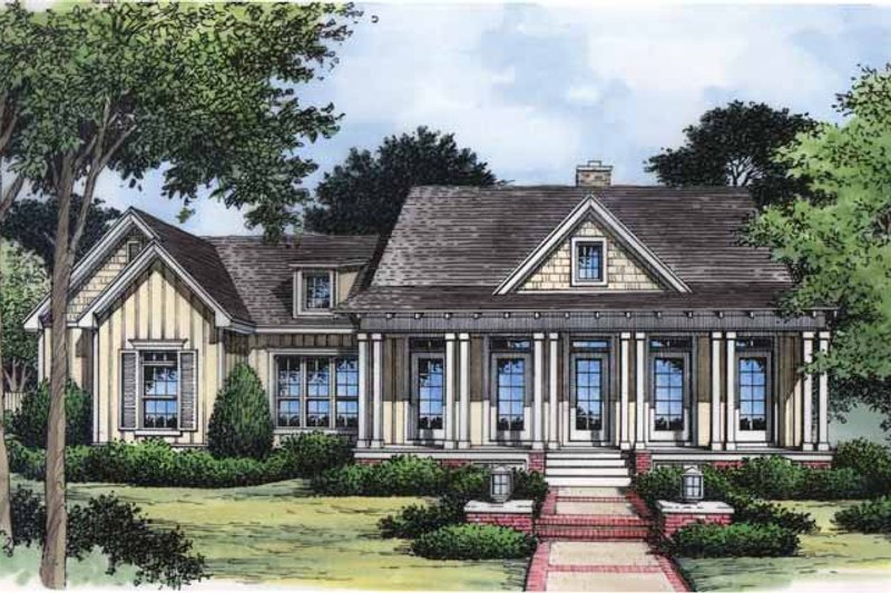 Country Exterior - Front Elevation Plan #417-642 - Houseplans.com
