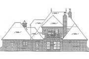 European Style House Plan - 4 Beds 4 Baths 3643 Sq/Ft Plan #310-686 Exterior - Rear Elevation