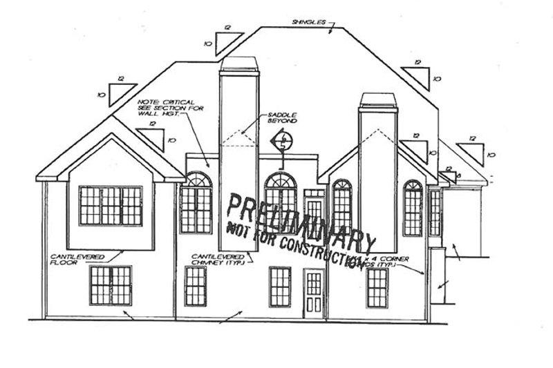 Traditional Exterior - Rear Elevation Plan #927-792 - Houseplans.com