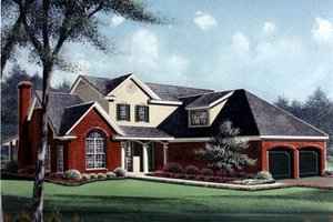 Cottage Exterior - Front Elevation Plan #15-202