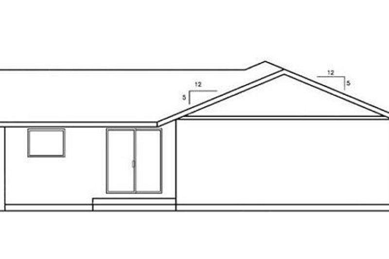 Ranch Exterior - Rear Elevation Plan #60-559 - Houseplans.com