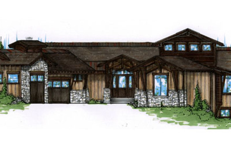 Architectural House Design - Craftsman Exterior - Front Elevation Plan #945-140