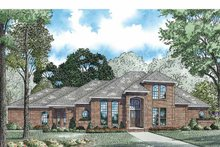 Home Plan - Mediterranean Exterior - Front Elevation Plan #17-3170